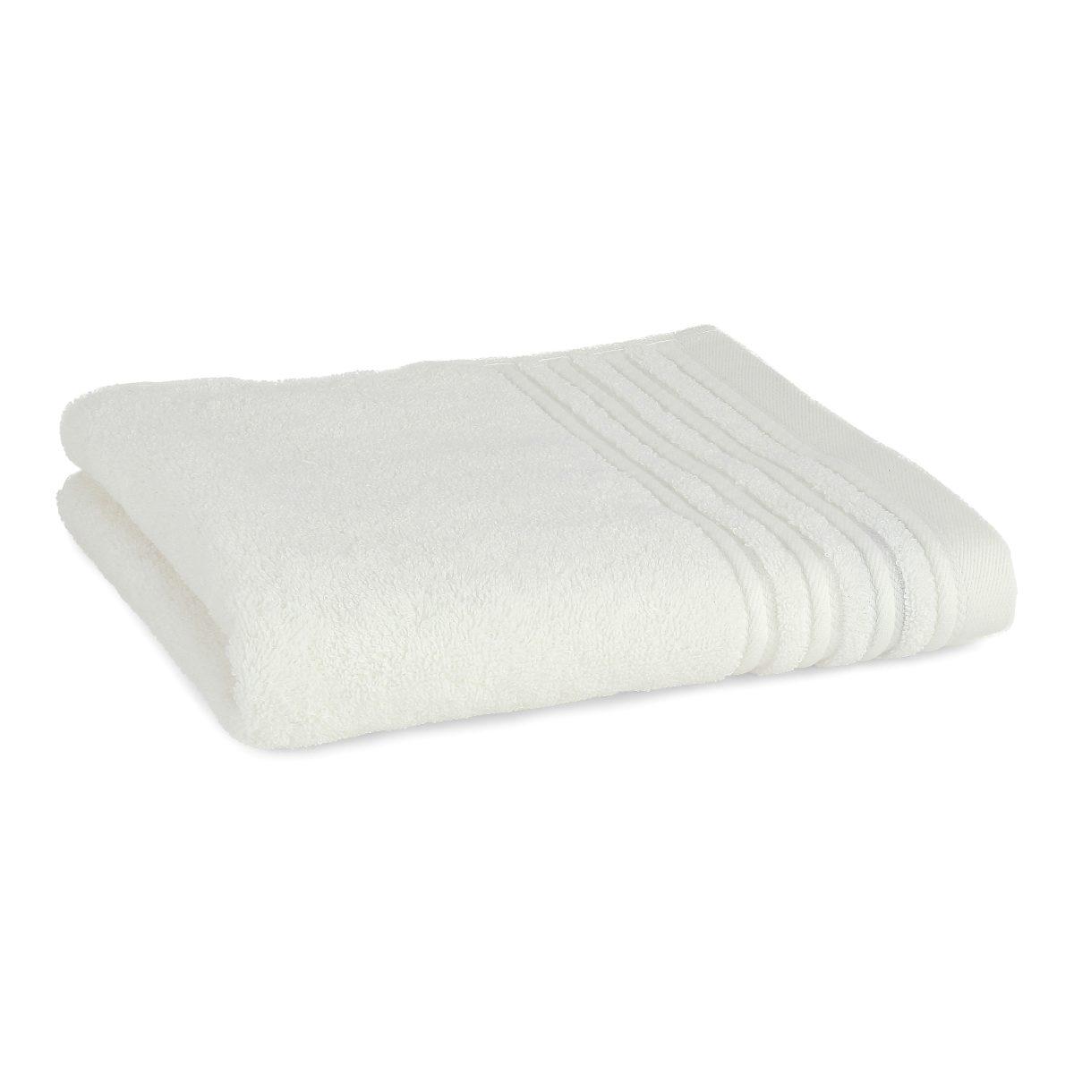 Håndklæde med broderet navn - creme