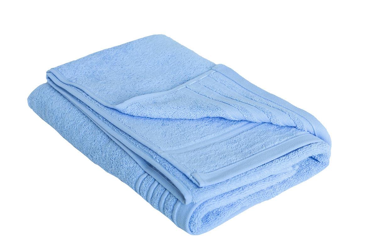 Lyseblå håndklæde