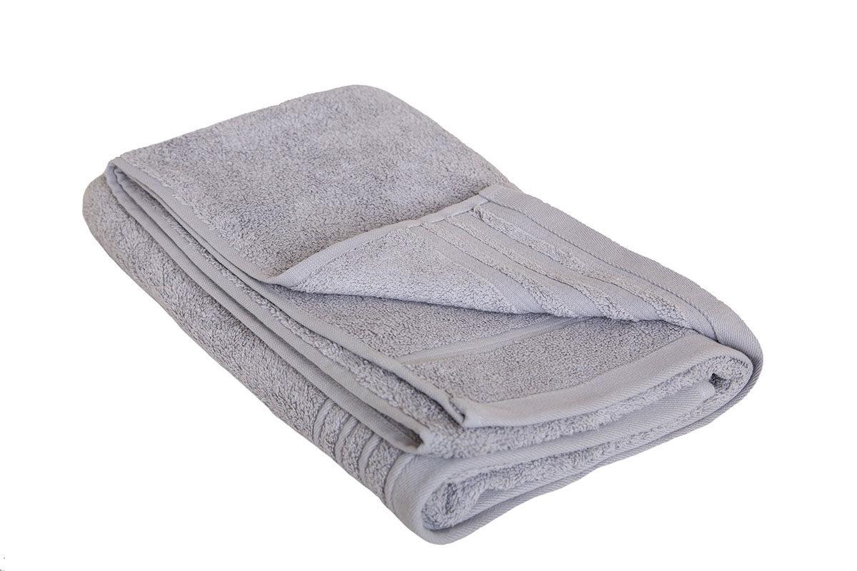 Lysegrå håndklæde