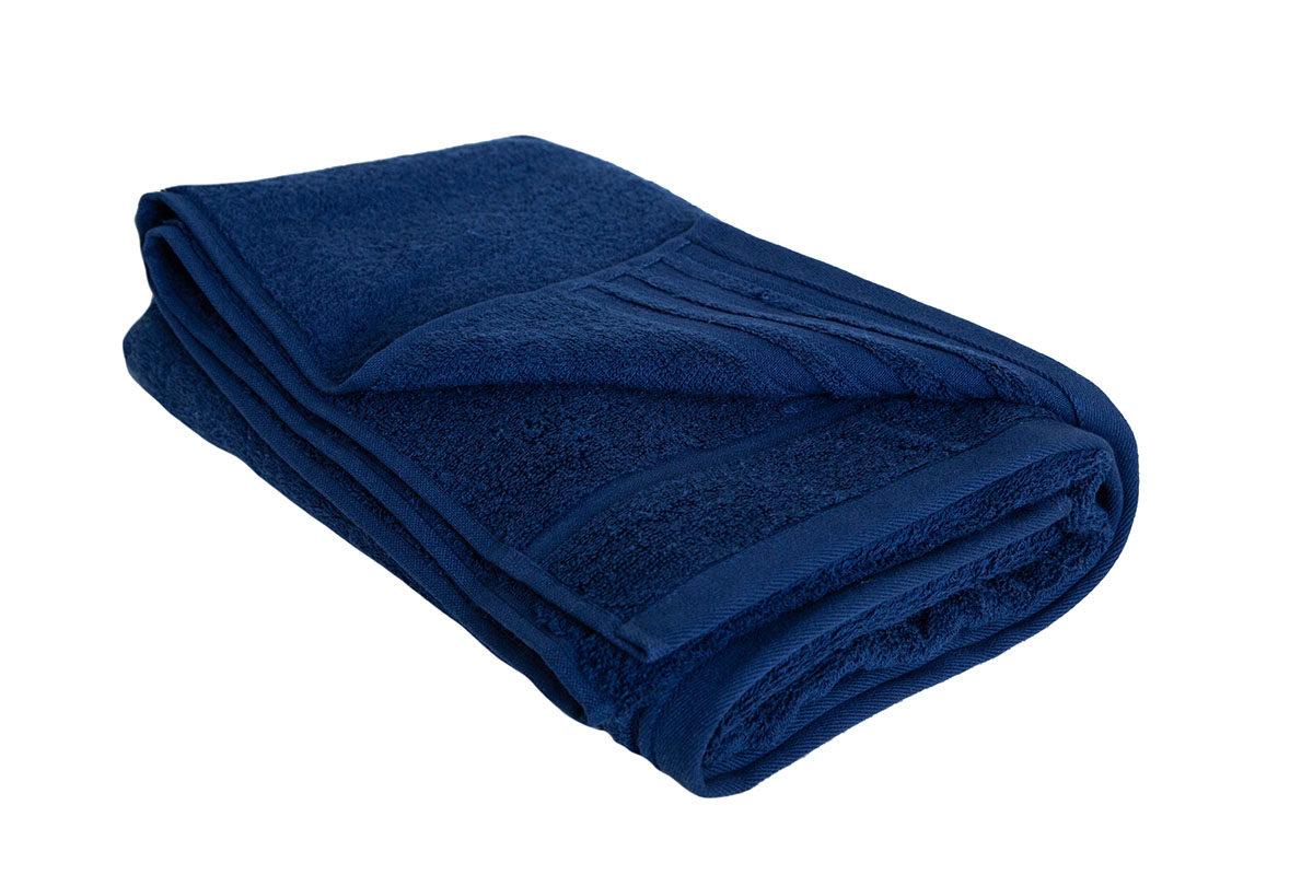 Mørkeblå håndklæde