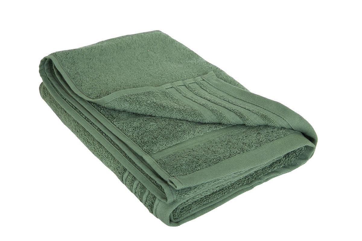 Mørkegrønt håndklæde