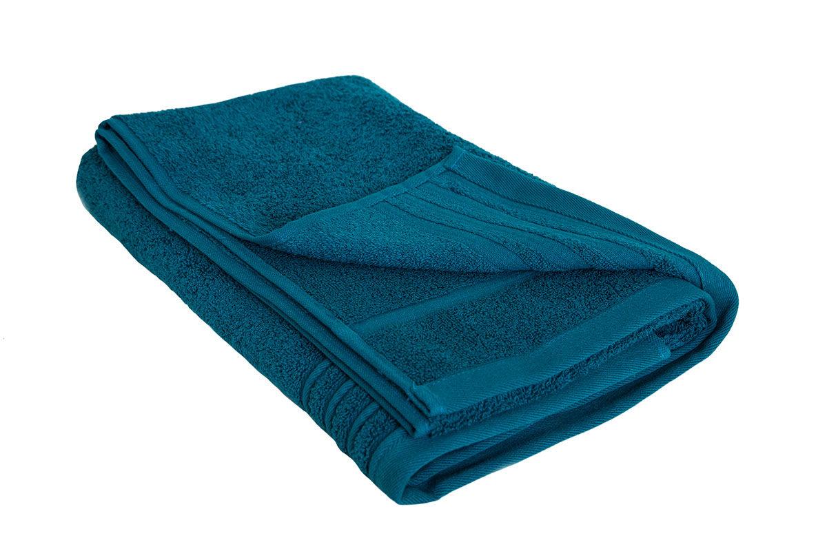 Mørk turkis håndklæde