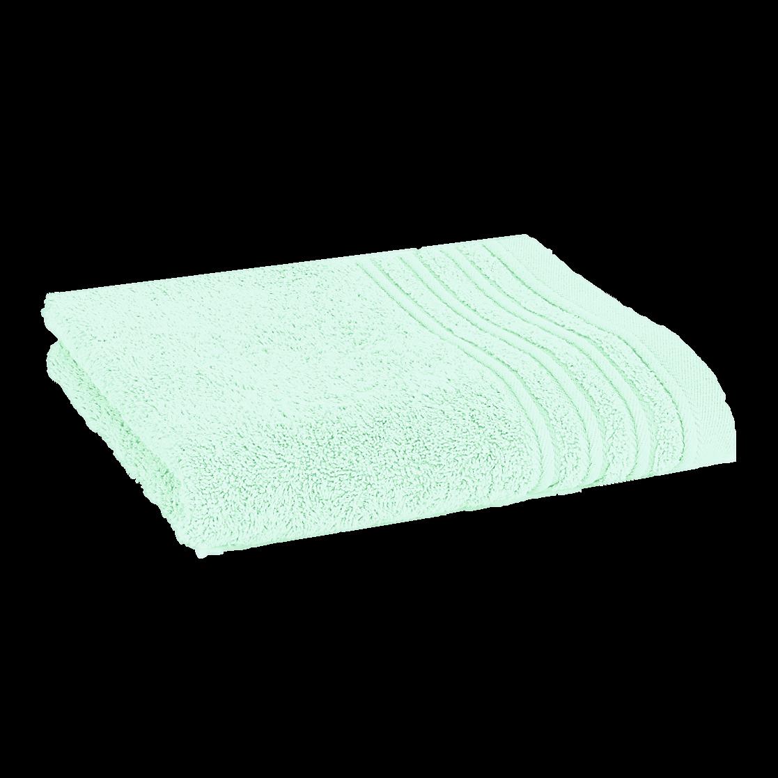 Håndklæde med broderet navn - lys turkis