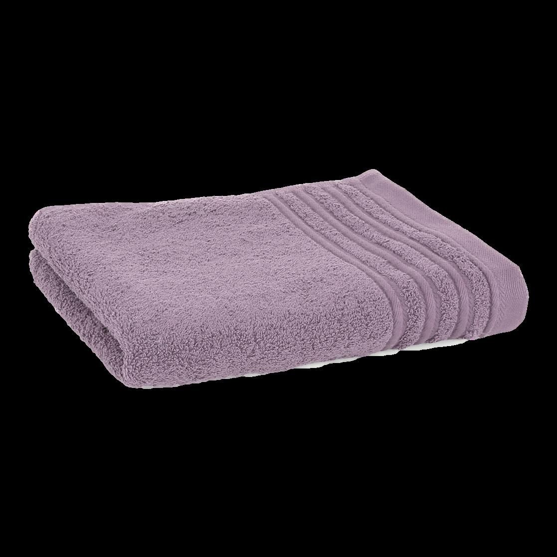 Håndklæde med broderet navn - lavendel