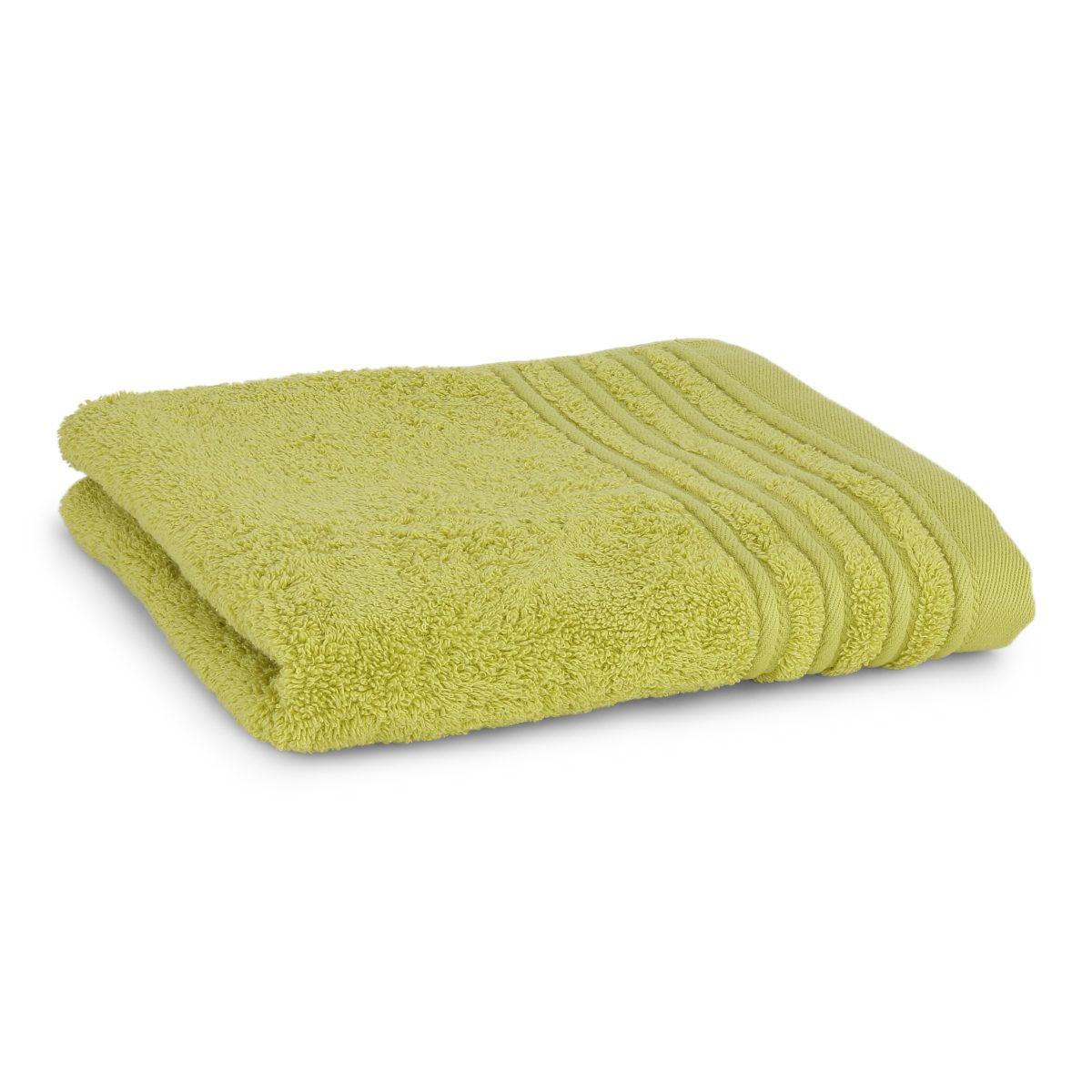 Håndklæde med broderet navn - lime