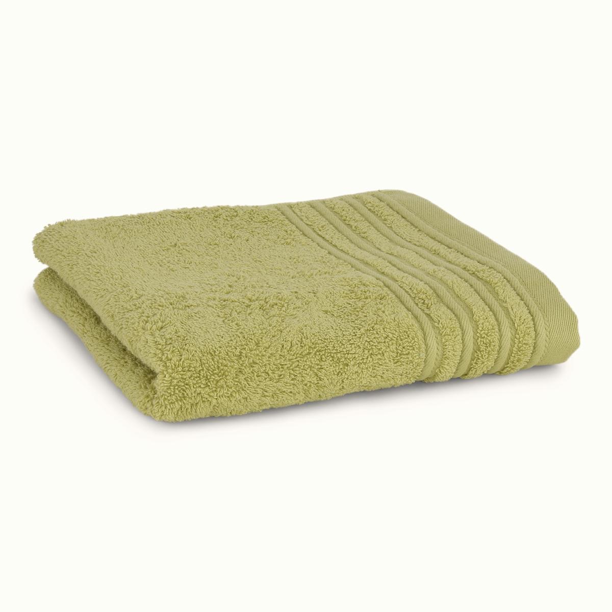 Håndklæde med broderet navn - lys grå
