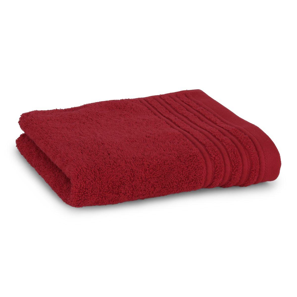 Håndklæde med broderet navn - Rød