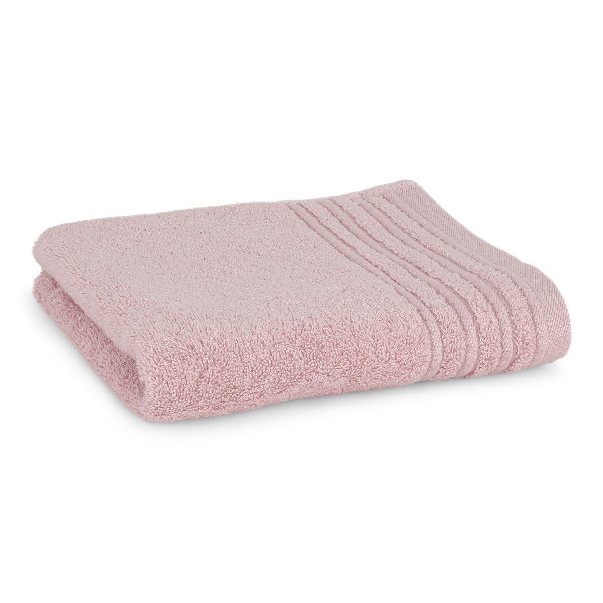 Håndklæde med broderet navn - rosa