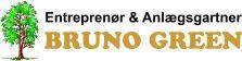 Broderi af logo på tøj - her vores samarbejdspartner Entreprenør & Anlægsgartner Bruno Green